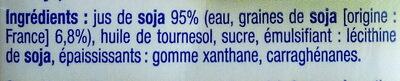 Préparation Soja cuisine - Ingredients - fr