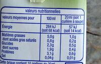 Préparation Soja cuisine - Nutrition facts - fr