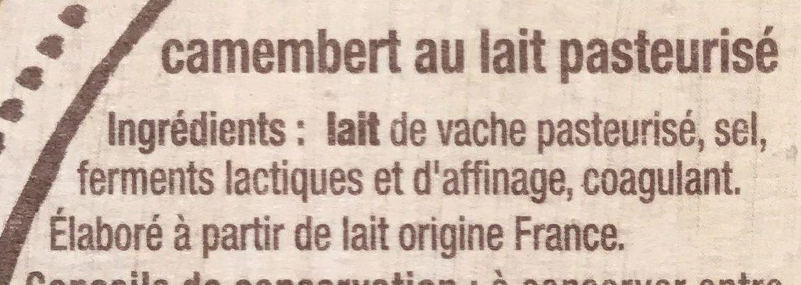 Camembert de caractère - Ingrédients - fr