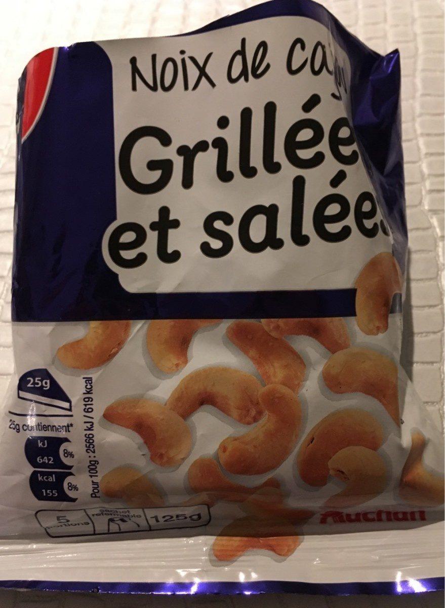Noix de cajou grill es et sal es auchan 125 g - Noix de cajou grillees salees ...