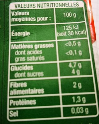 Purée de tomates herbes de Provence - Voedingswaarden - fr