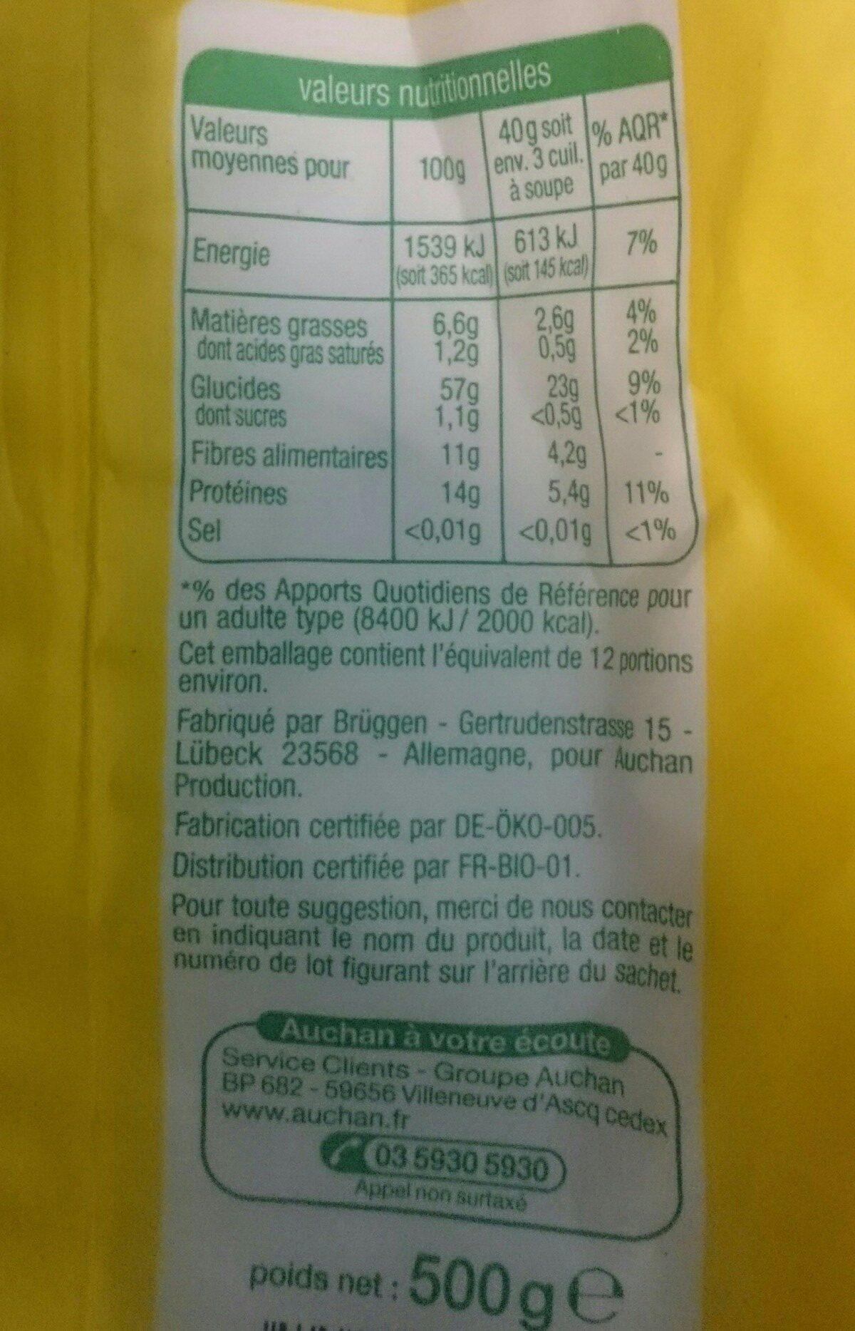 Flocon d'avoine - Ingrédients