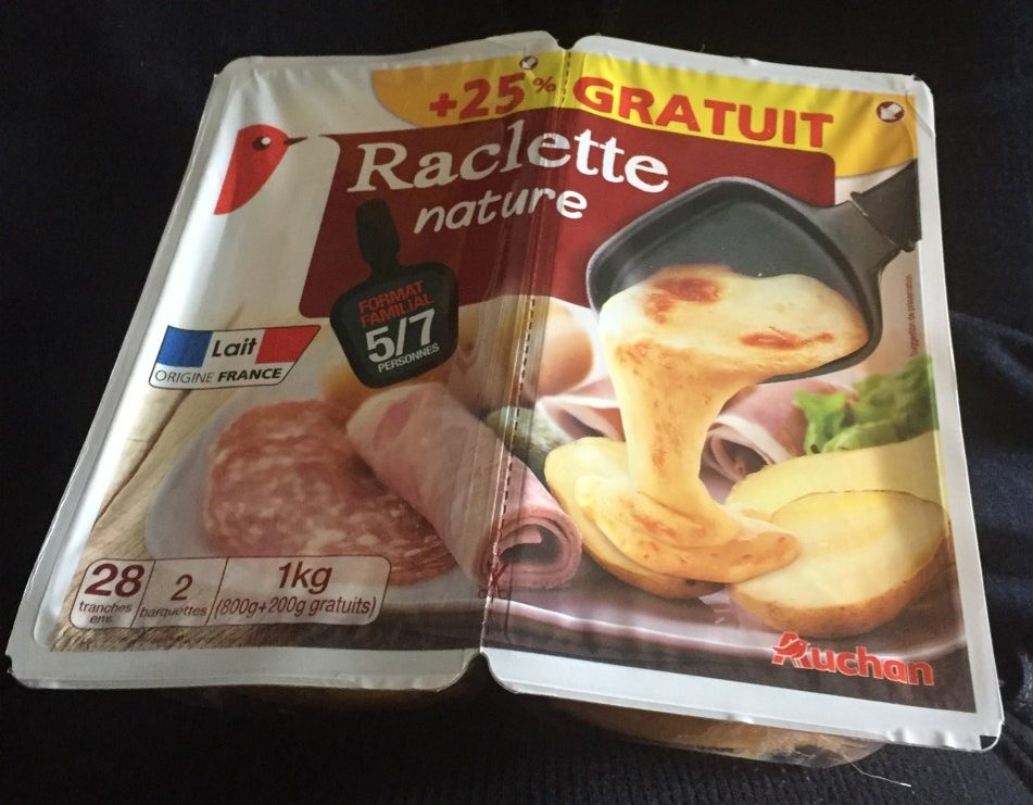 Raclette nature +25% gratuit - Product
