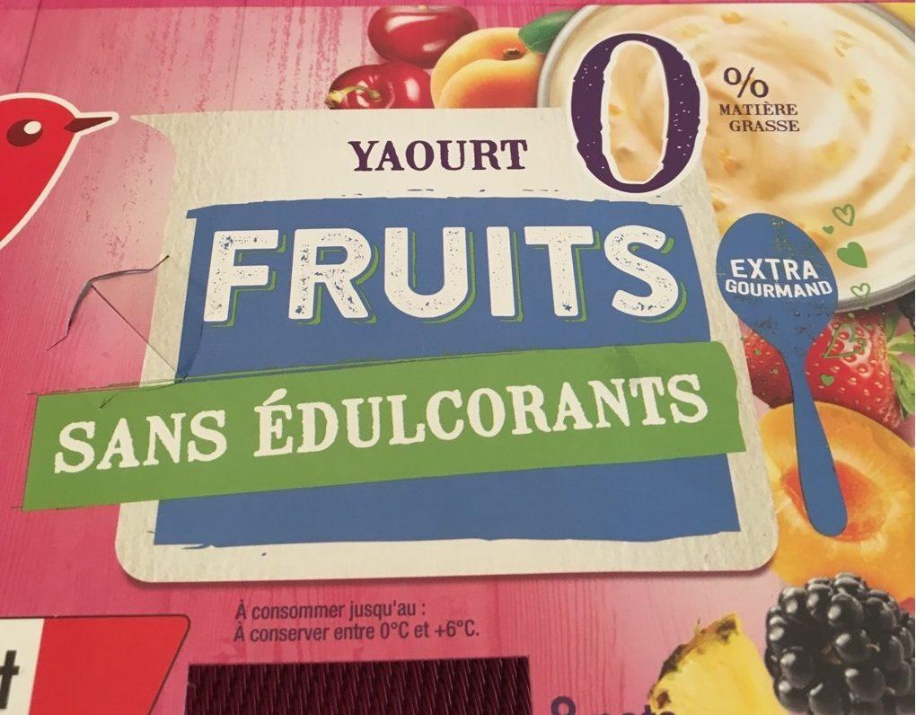 Yaourts fruits 0 de mati re grasse sans dulcorants - Cuisiner les legumes sans matiere grasse ...
