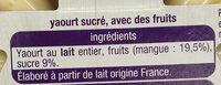 Juste 3 mangue - Ingrédients