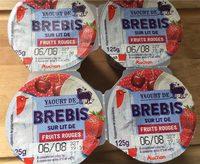 Yaourt de brebis sur lit de fruits rouges - Produit - fr