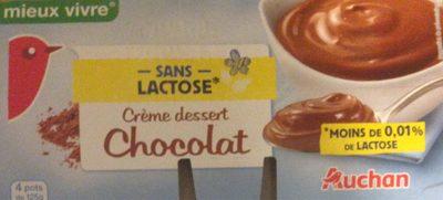 Crème dessert chocolat sans lactose - Produit
