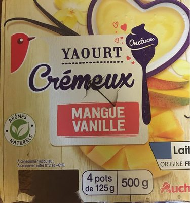 Yaourt cremeux mangue vanille - Product - fr