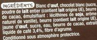 Mousse au café gourmande - Ingrédients