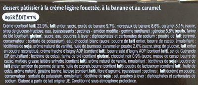 Banoffee Banane Caramel - Ingredients