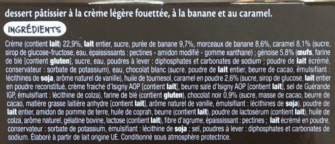 Banoffee Banane Caramel - Ingrédients