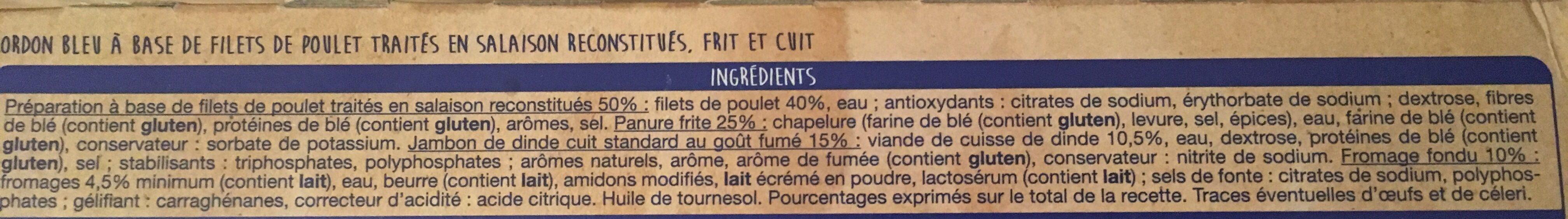 Cordon Bleu Poulet - Ingrediënten - fr
