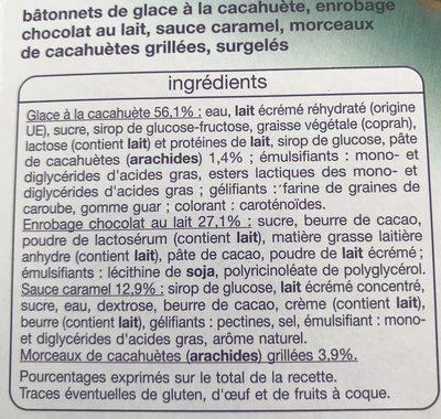 Cacahuètes sauce caramel - Ingrédients