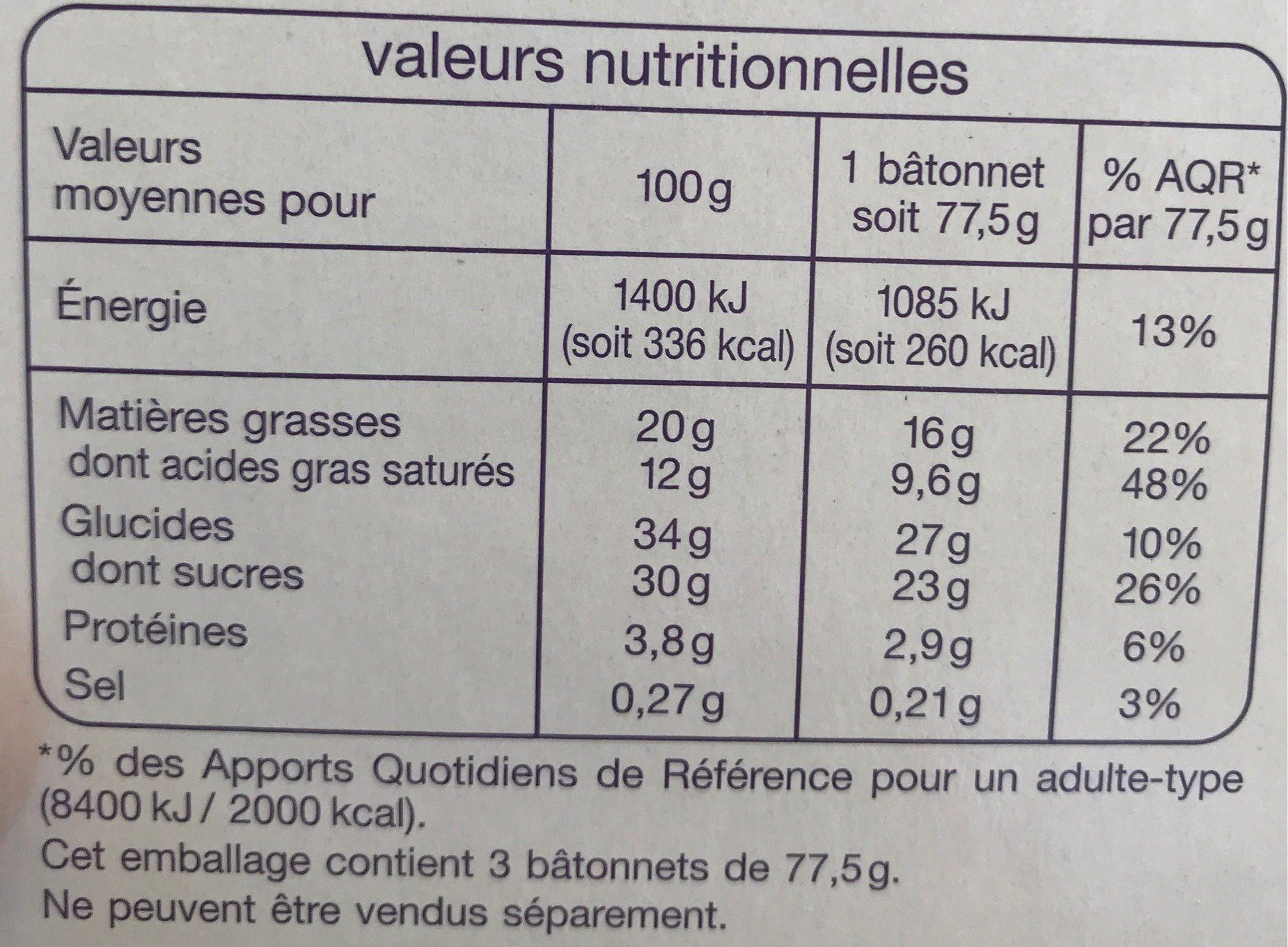 Cacahuètes sauce caramel - Informations nutritionnelles