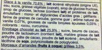 Les Plaisirs Glacés Bâtonnets Vanille Amandes - Ingredients