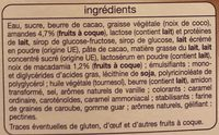Bâtonnets vanille macadamia les plaisirs glacés x3 - Ingrédients