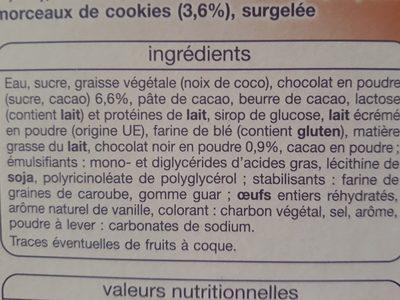 Chocolat cookies - Ingredients