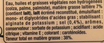 Beurre Tartine et Légère - Ingrediënten - fr