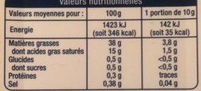 Beurre Tartine et Légère - Voedingswaarden - fr