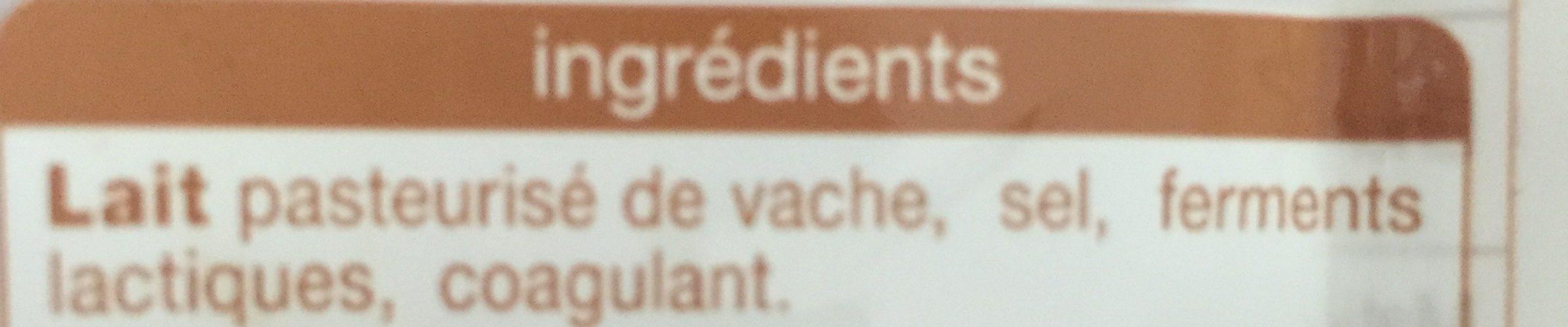 Meule fruitée - Ingredients - fr