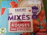 Yaourt les mixés fruits rouges sans morceaux - Produit - fr