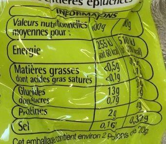 Pommes de terre cuite à la vapeur - Nutrition facts - fr
