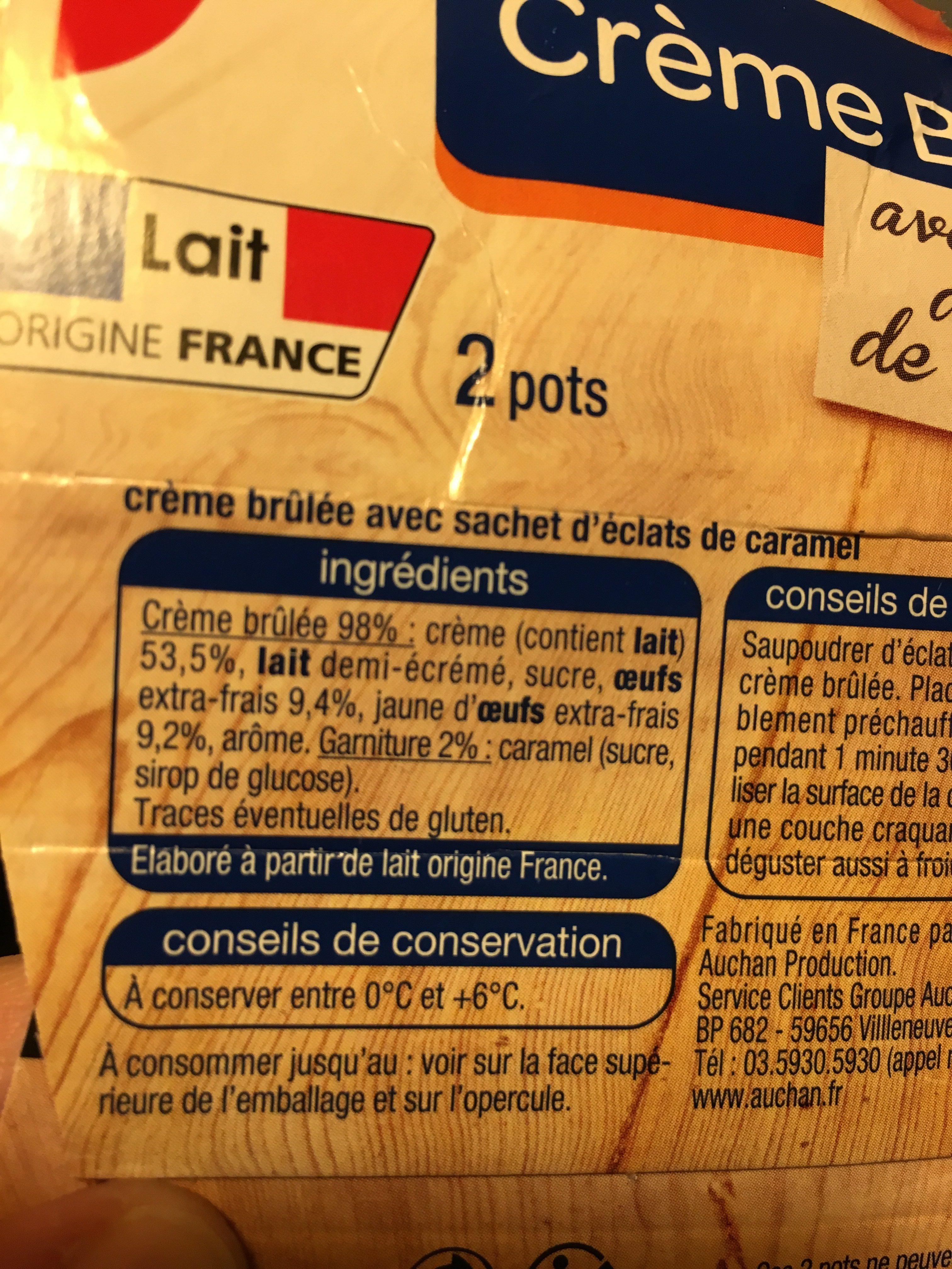 Creme brulee - Ingredients