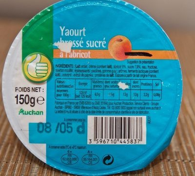 Yaourt Brassé Sucré à l'Abricot - Produit - fr