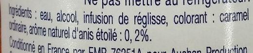 Pastis de marseille 45% - Ingrediënten