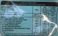 Crousty chocolat au lait - Informations nutritionnelles - fr