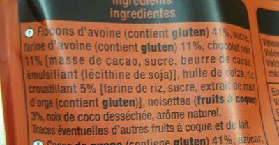 Crousty Chocolat Noir et Noisettes - Ingrediënten - fr