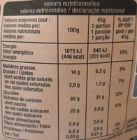 Crousty 3 chocolats - Nutrition facts - fr