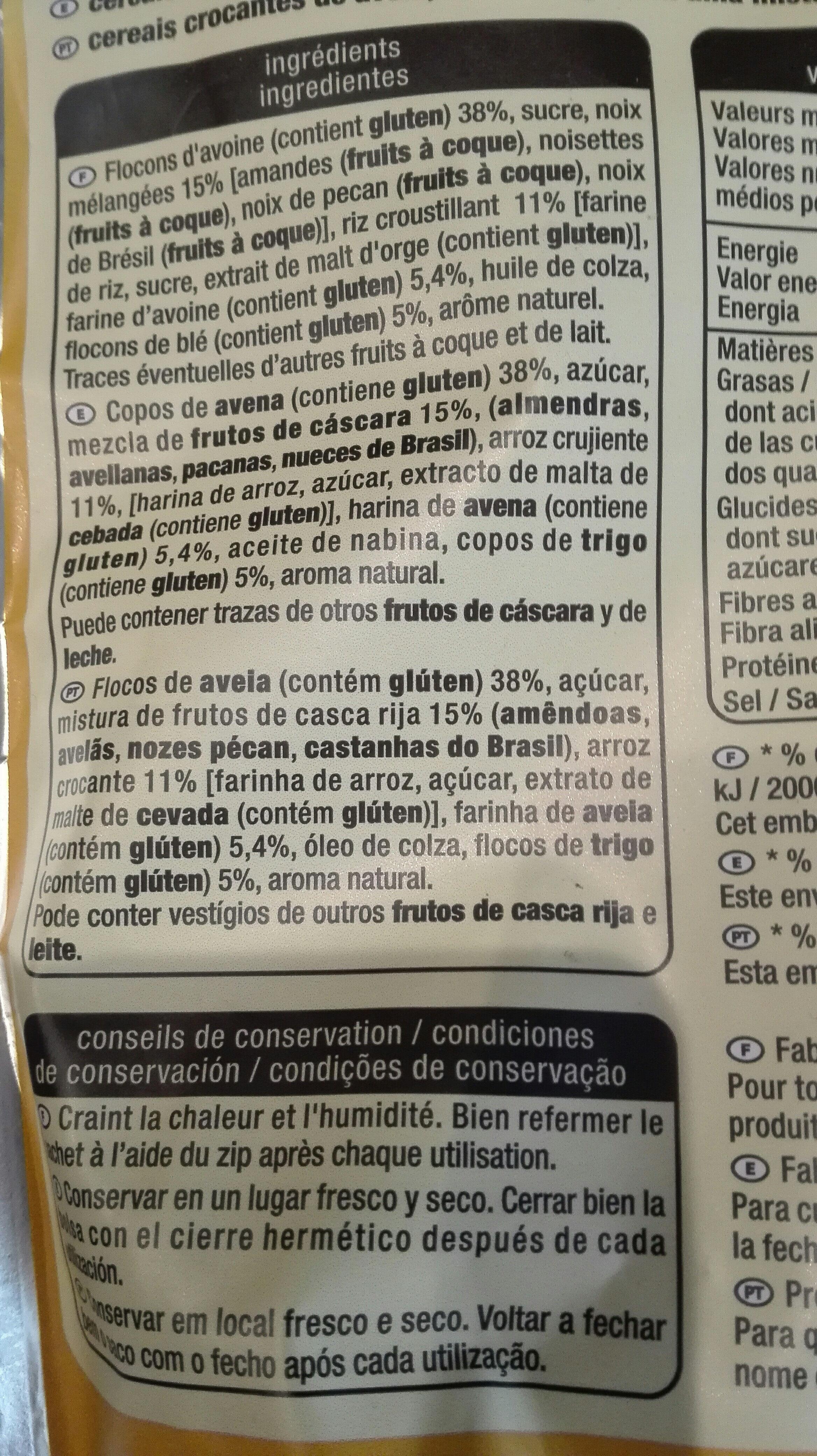 Crousty noix - Ingredientes - es