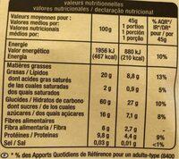 Crousty noix - Valori nutrizionali - fr