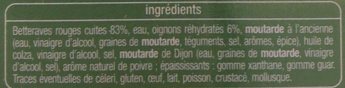 Betteraves rouges - Ingrediënten