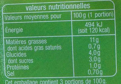 Duo de crudités - Voedingswaarden - fr
