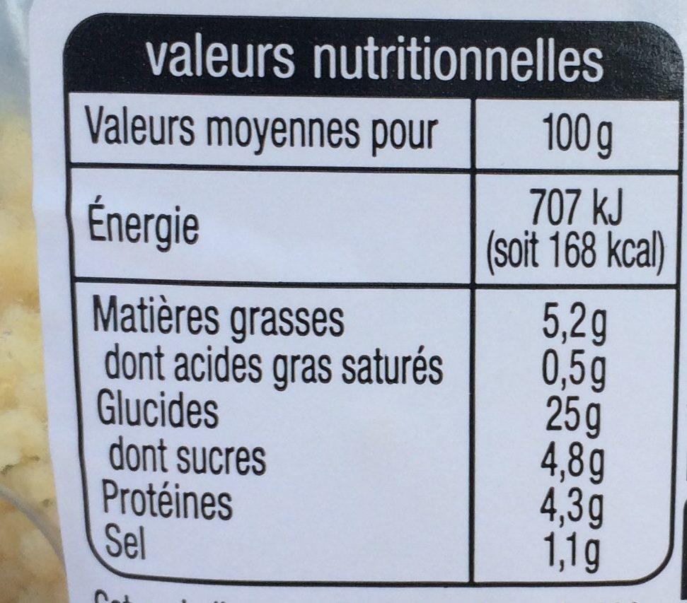 Taboulé oriental - Nutrition facts