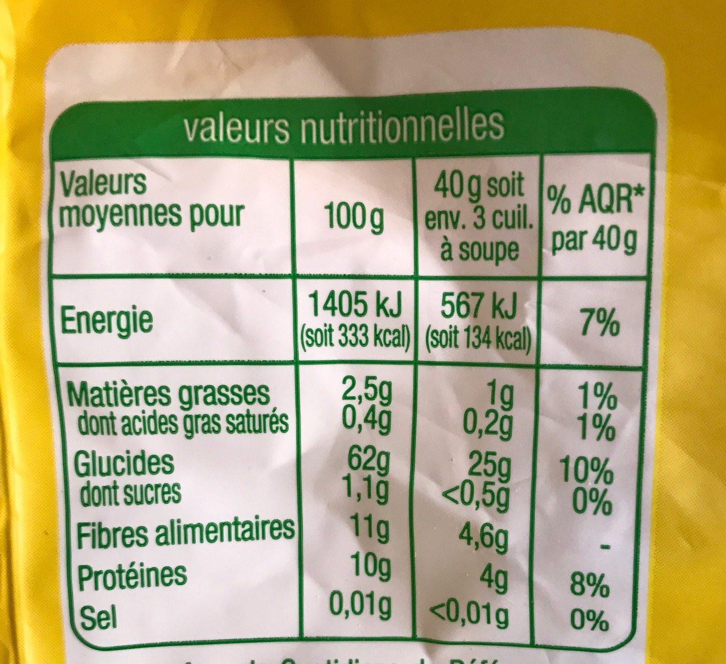 Flocons 5 Céréales - Nutrition facts