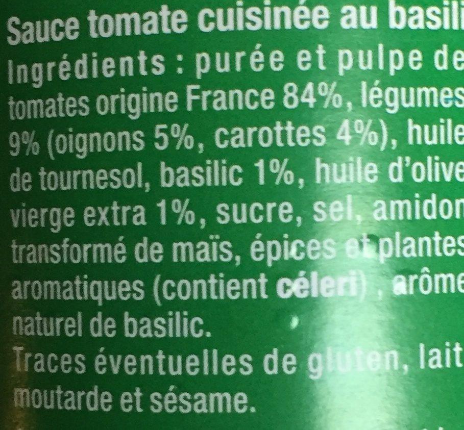 Sauce tomate provencale - Ingrédients