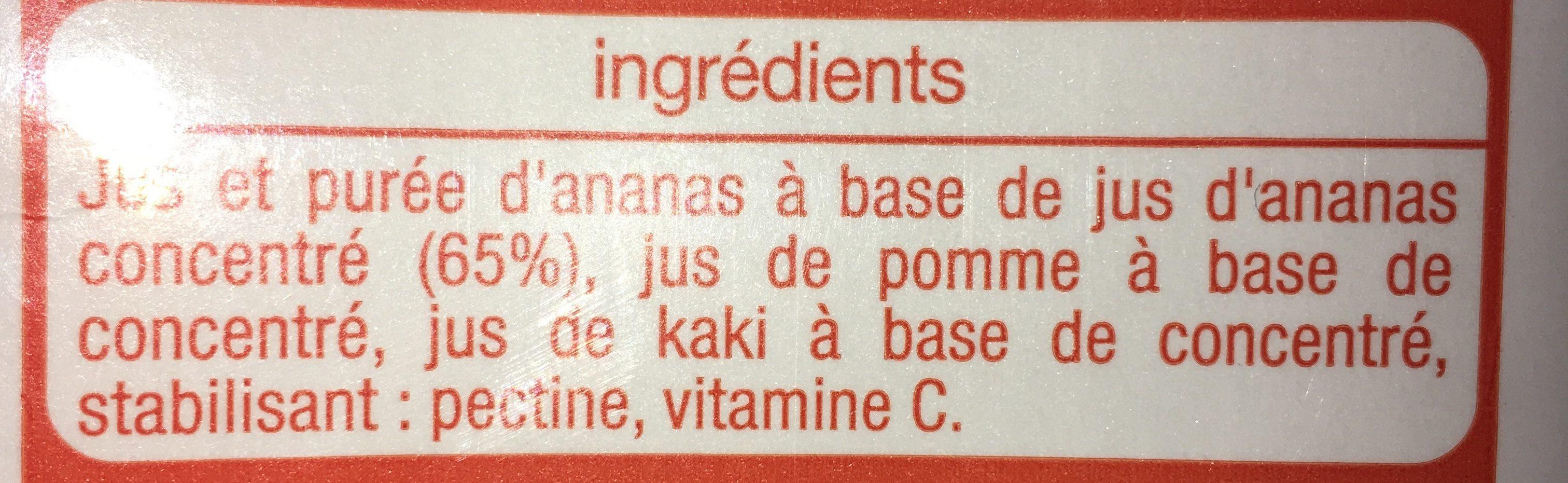 Jus d'ananas multifruits - Ingrédients - fr