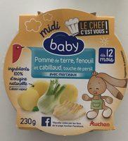 Pomme de terre, fenouil et cabillaud, touche de persil - Product