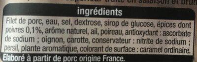 Rôti De Porc - Ingrédients - fr