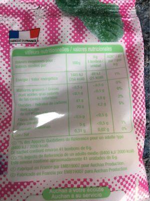 Beast feet - Informations nutritionnelles - fr