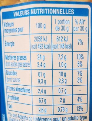 Box' apero - Informations nutritionnelles - fr