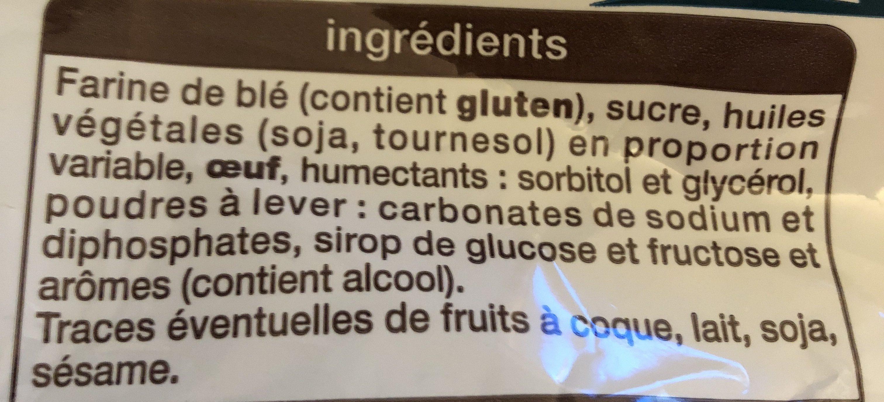 Magdalenas redondas - Ingredients
