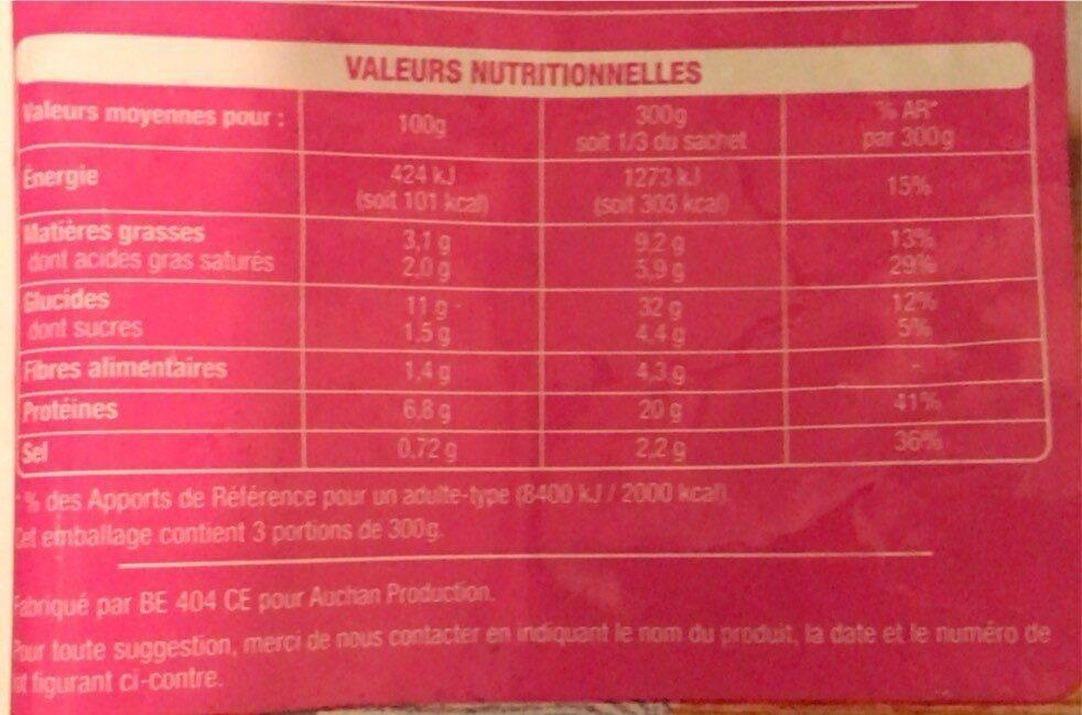 Poêlée Thaï au Poulet - Informations nutritionnelles - fr