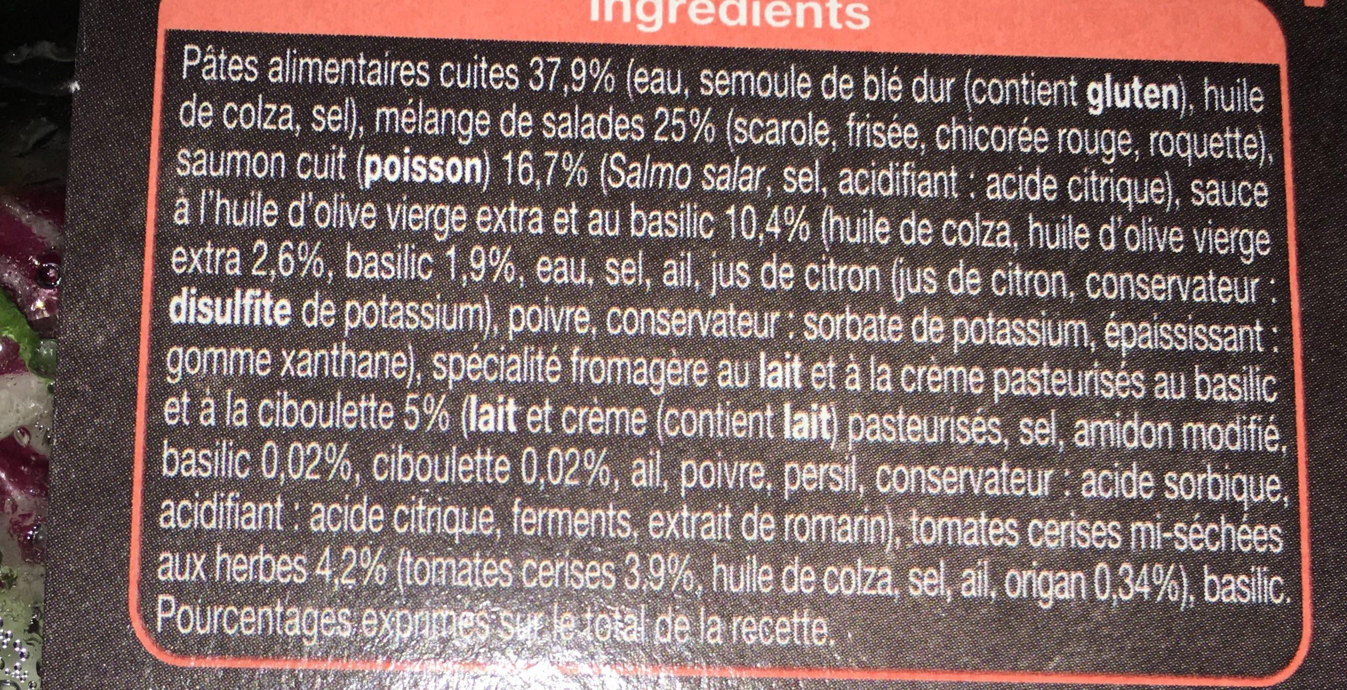 Pâtes et salade saumon - Ingrédients - fr