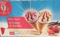Petits Cônes Fraise et Vanille - Product