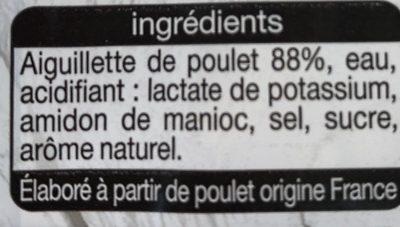 Aiguillette de Poulet -25% de Sel - Ingredients