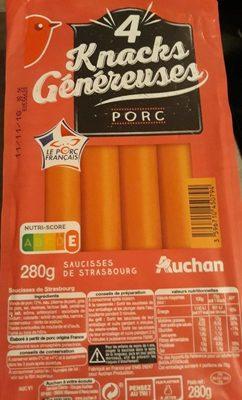 4 knacks généreuses porc - Product